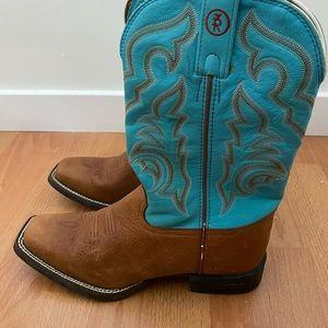 Authentic leather women's cowboy boots